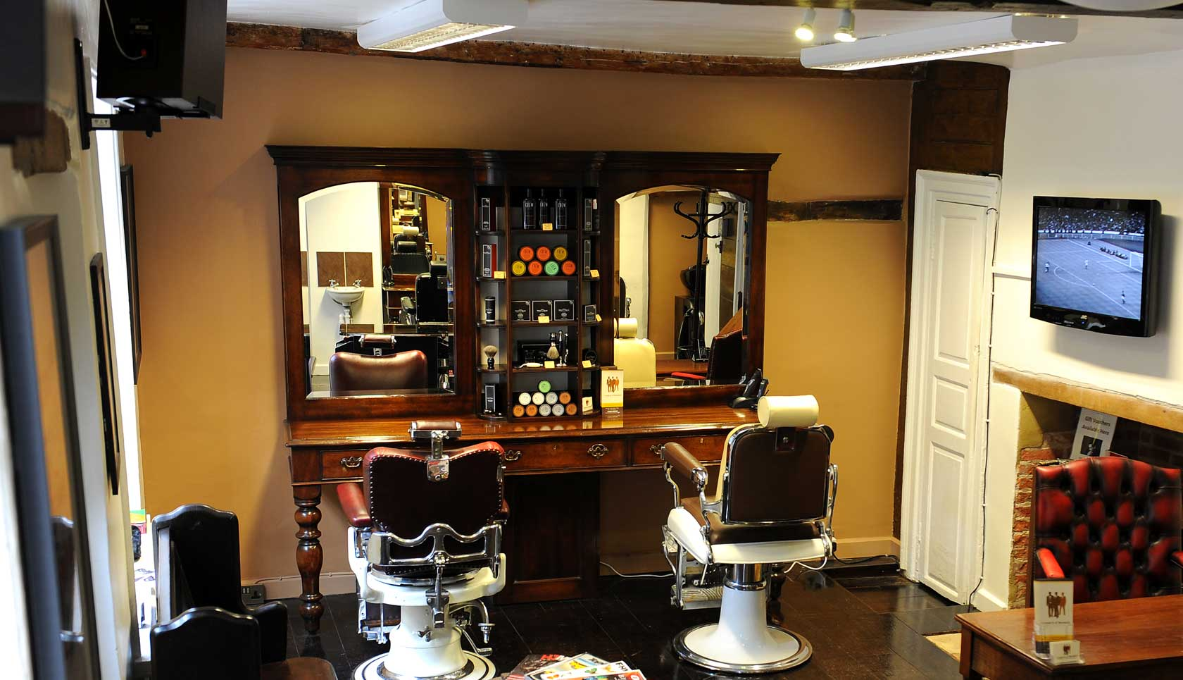 Inside the Truman's hair studio